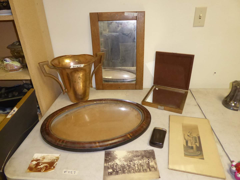 Lot # 227 - Convex Glass Picture Frame, Photo, Print, Unique Mirror Box & Trophy  (main image)