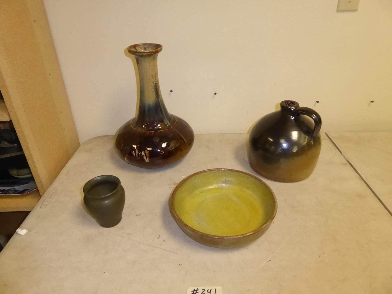 Lot # 241 - Pottery Vases, Bowl & Jug  (main image)