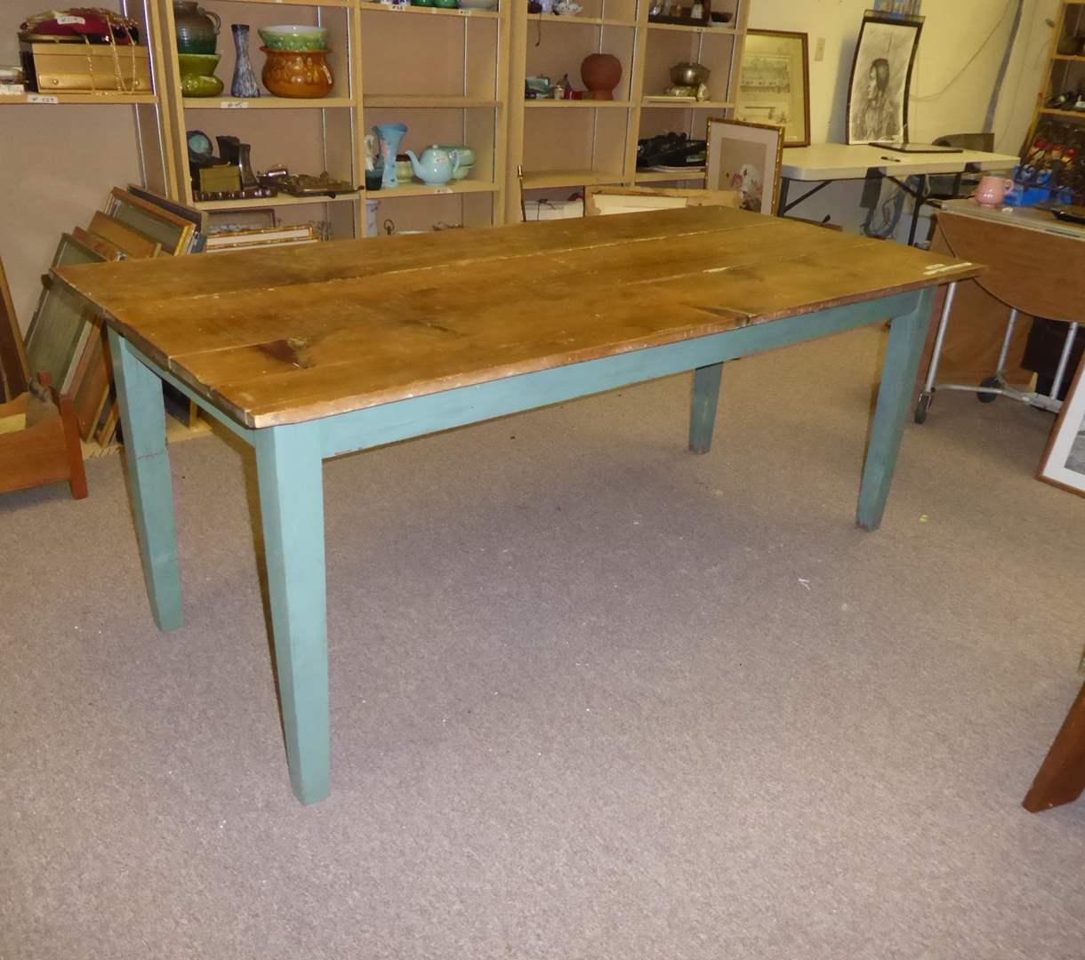 Lot # 247 - Cute Wooden Farmhouse Table  (main image)