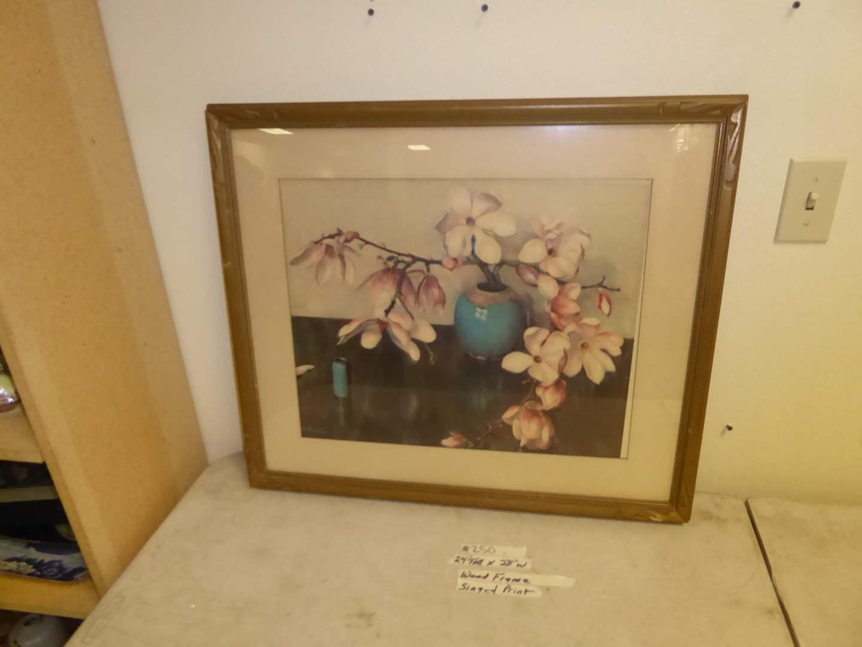 Lot # 250 - Framed Signed Print  (main image)