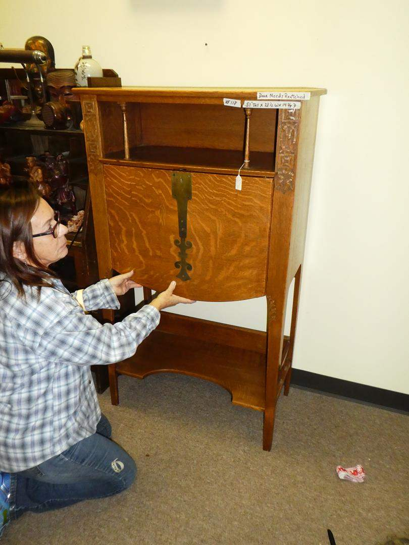 Lot # 118 - Mission Style Antique Writing Desk (main image)