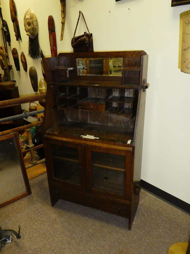 Lot # 121 - Antique Mission Style Secretary Desk  (main image)