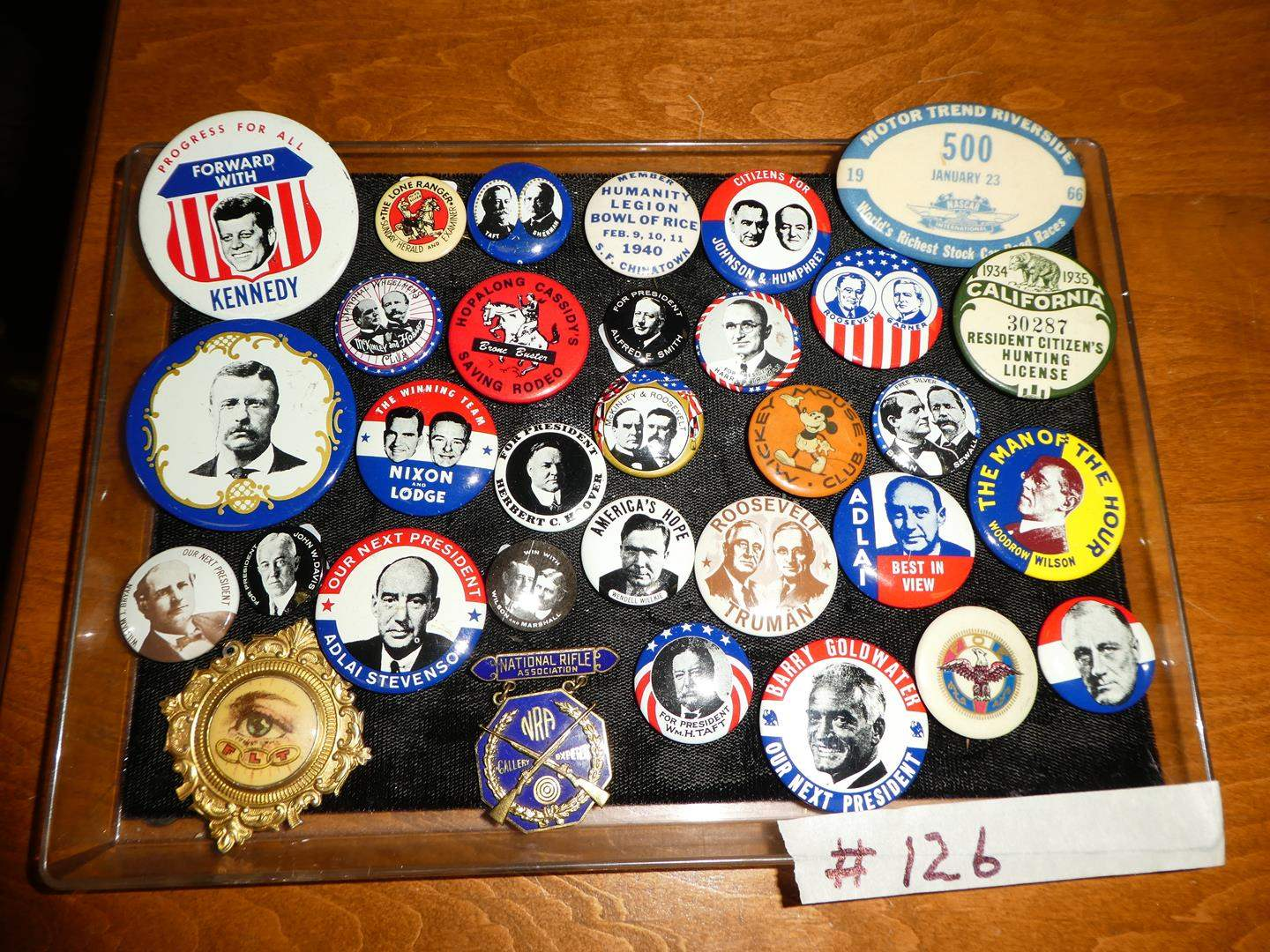 Lot # 126 - Vintage Button Collection - Mostly Political  (main image)