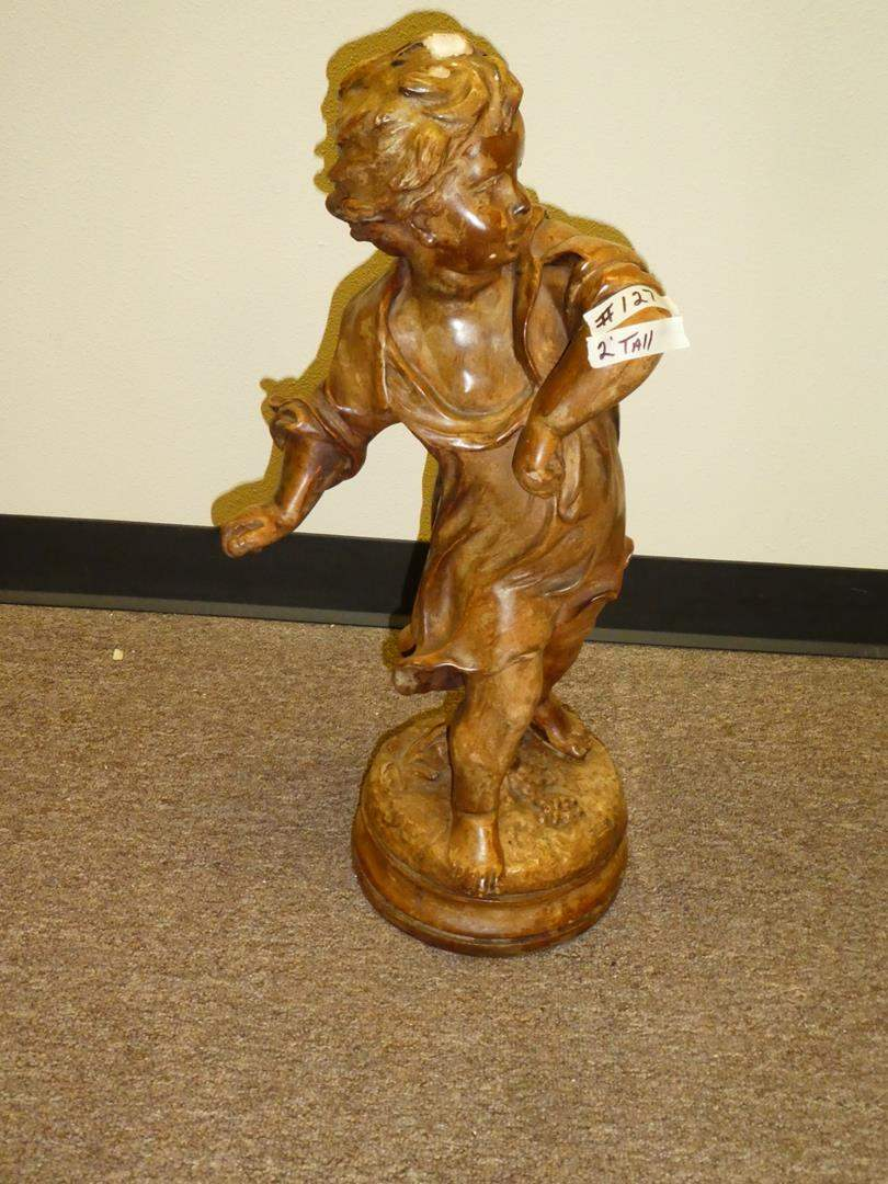 Lot # 127 - Vintage Child Statue 2 Foot Tall (main image)