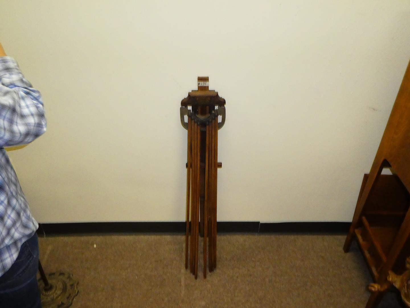 Lot # 131 -  Cool Antique Wall Mount Clothes Drier  (main image)