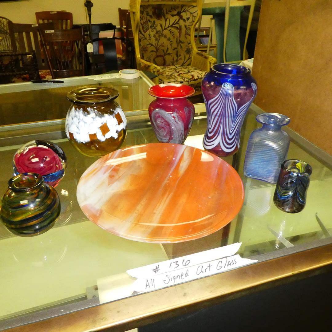 Lot # 136 - Signed Art Glass Lot  (main image)