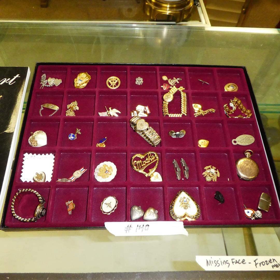 "Lot # 140 - Vintage Military ""Sweetheart""  Jewelry & Keepsakes  (main image)"