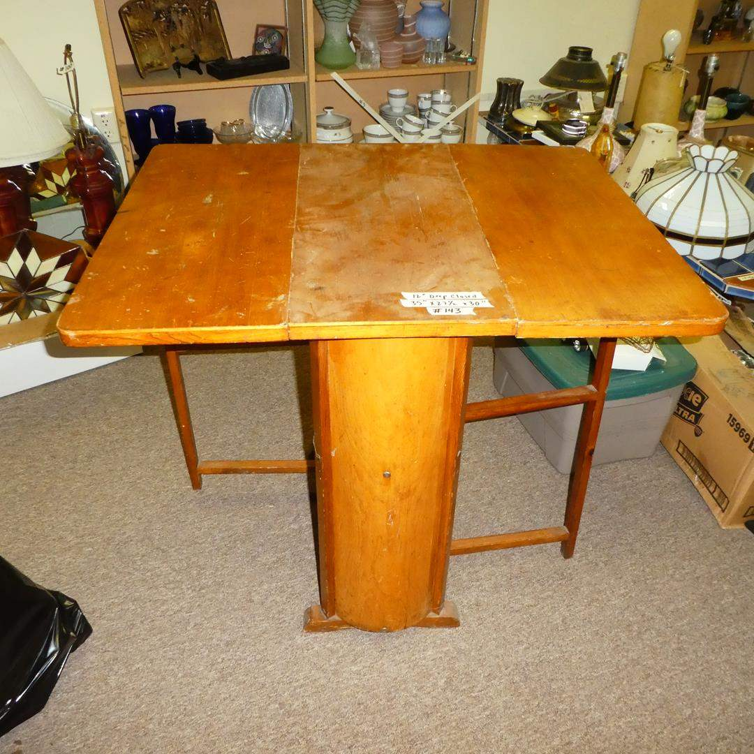 Lot # 143 - Small Drop Leaf Table (main image)