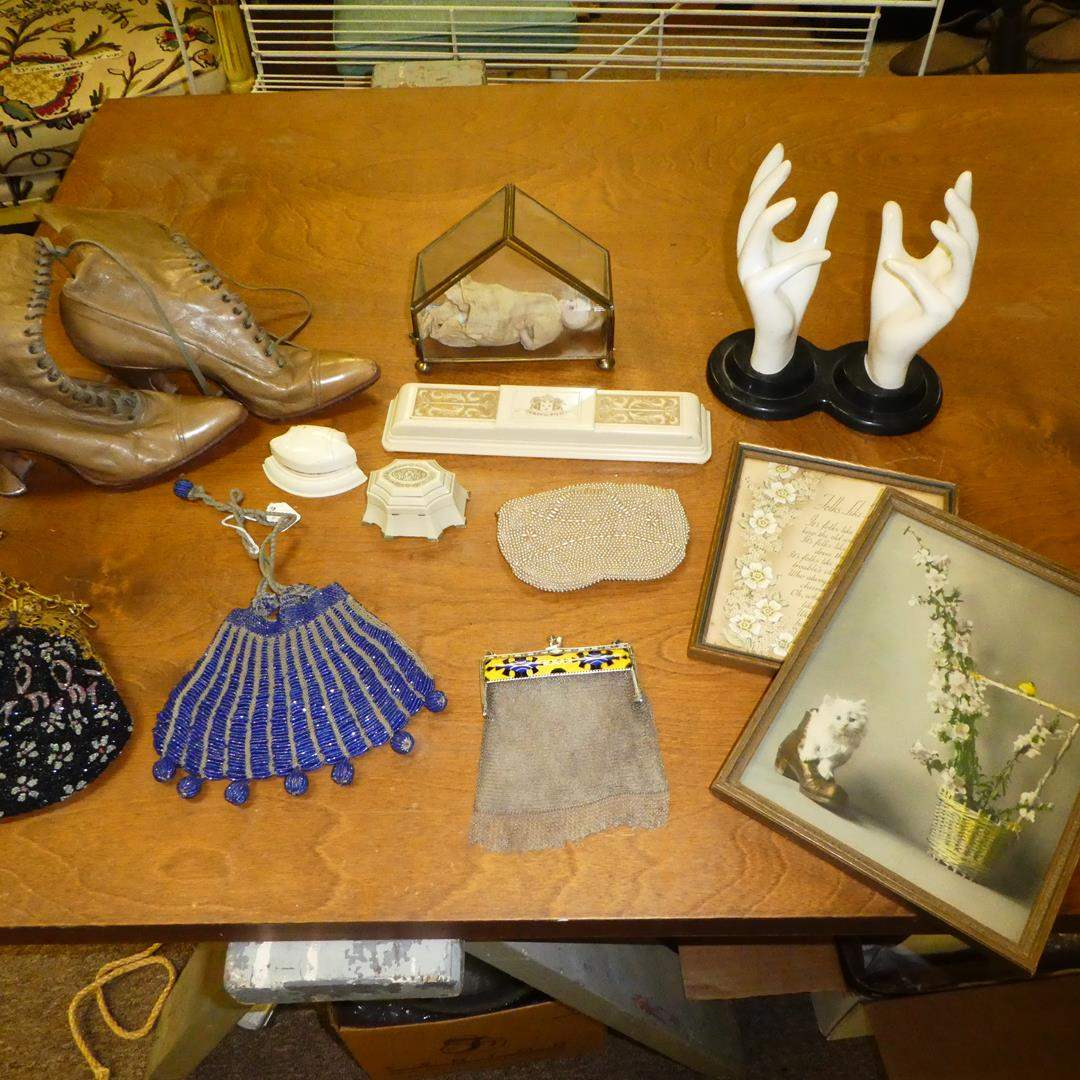 Lot # 148 - Vintage & Antique, Purse, Doll, Boots & Jewelry Cases (main image)