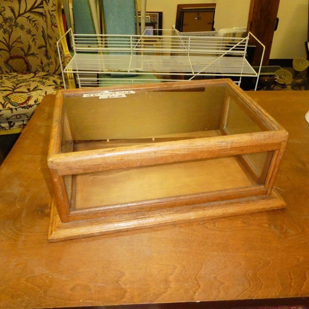 Lot # 149 - Wood Display Case Oak Shadow Box  (main image)