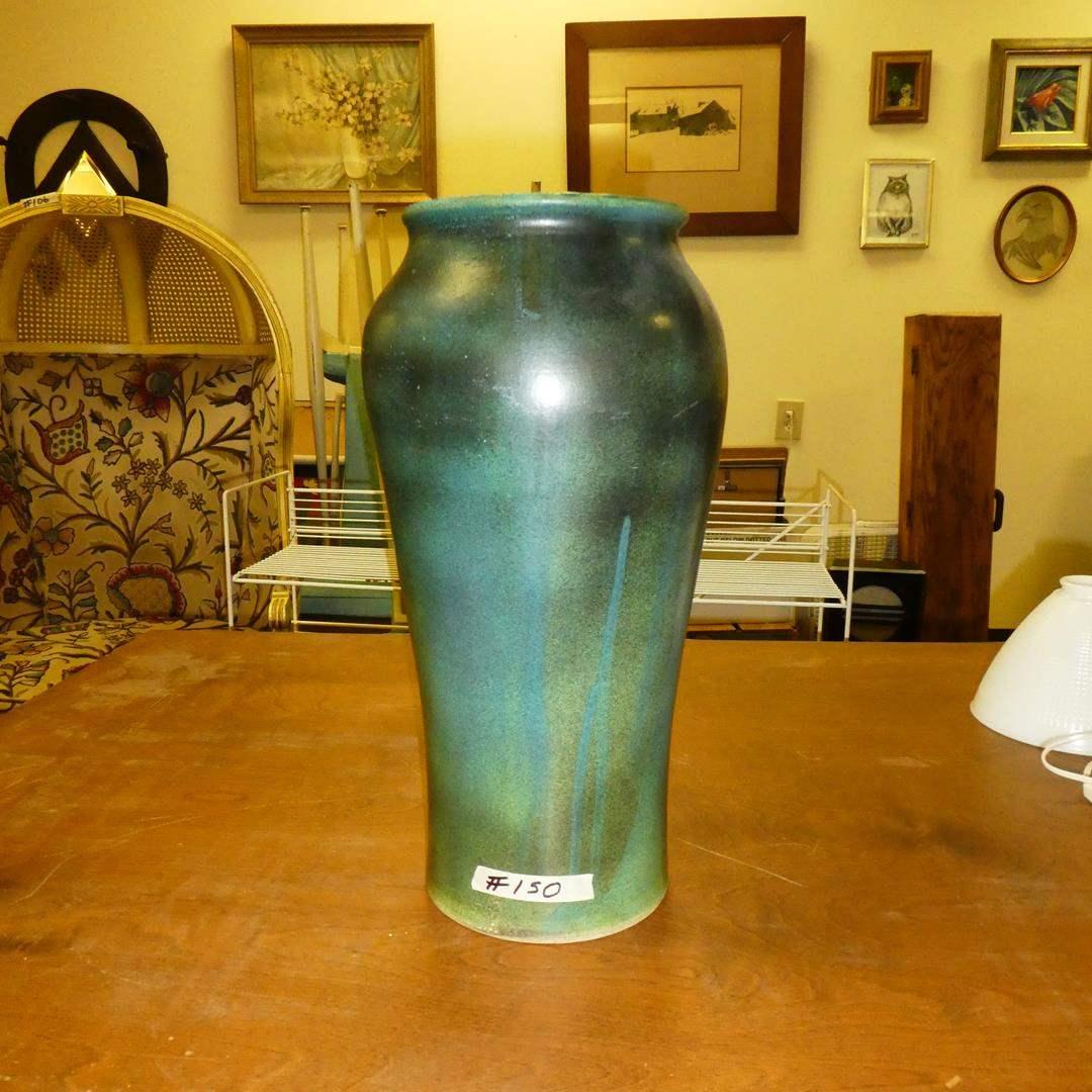 "Lot # 150 - Large 'Paul Rideout"" Vase - Local Artist (main image)"