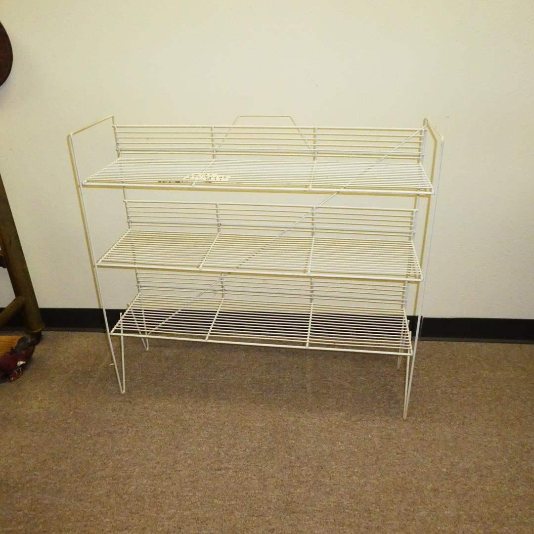 Lot # 159 - Nice Vintage Metal Shelf (main image)