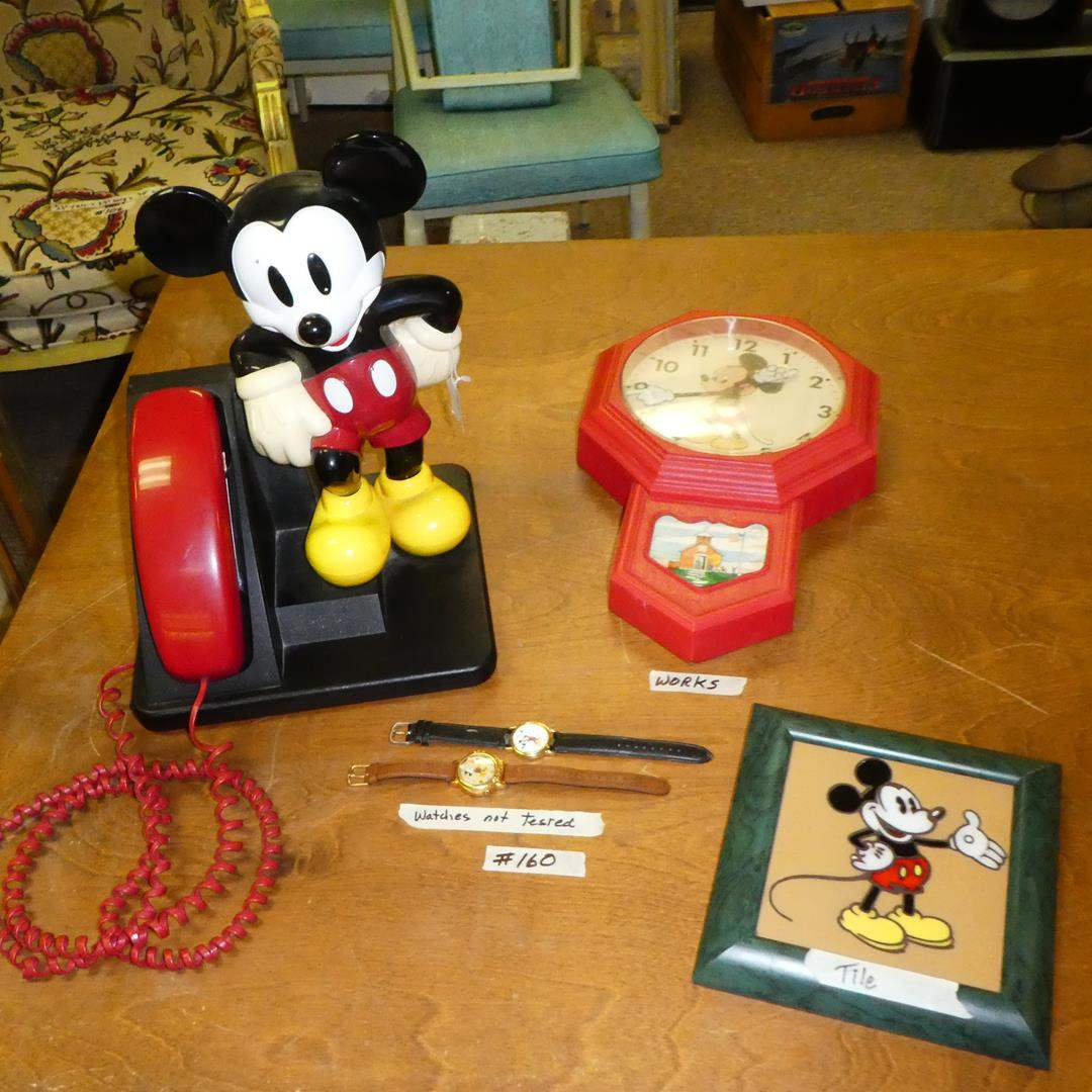 Lot # 160 - Mickey Mouse Collectibles (main image)