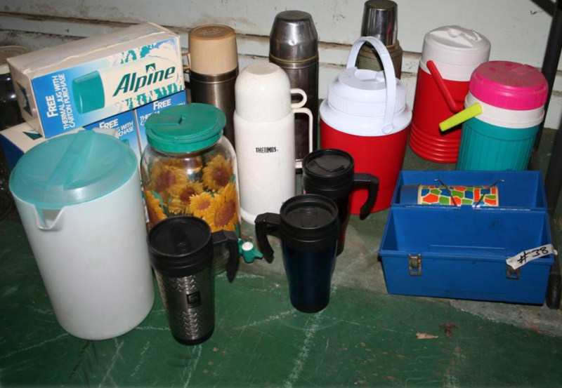 Lot #38 - Thermos, Drink Coolers, Travel Mugs, Water Filters (main image)
