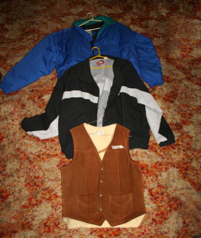 Lot #158 - 2 Nice Men's Jackets and Suede Vest - XXL & XXXL (main image)