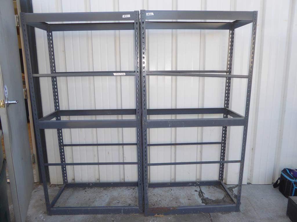 Lot # 51 - Two Metal Shelving Units (main image)