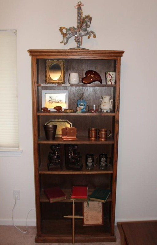 Lot #23 ~ Nice Solid Wood Bookcase with Contents (main image)