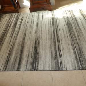 """Auction Thumbnail for:  Lot # 68 - Stripe Grey 5'3"""" x 7'4"""" Area Rug"""
