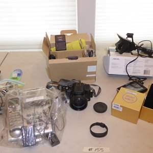 Auction Thumbnail for:  Lot # 155 - Panasonic Lumix Dmc fz20  Digital Camera, Vivio Smart Garmin Activity Tracker & Magellan Maestro 4250