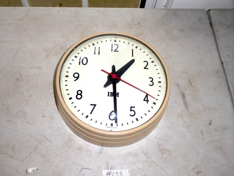 Lot # 138 - Vintage IBM Clock  (main image)