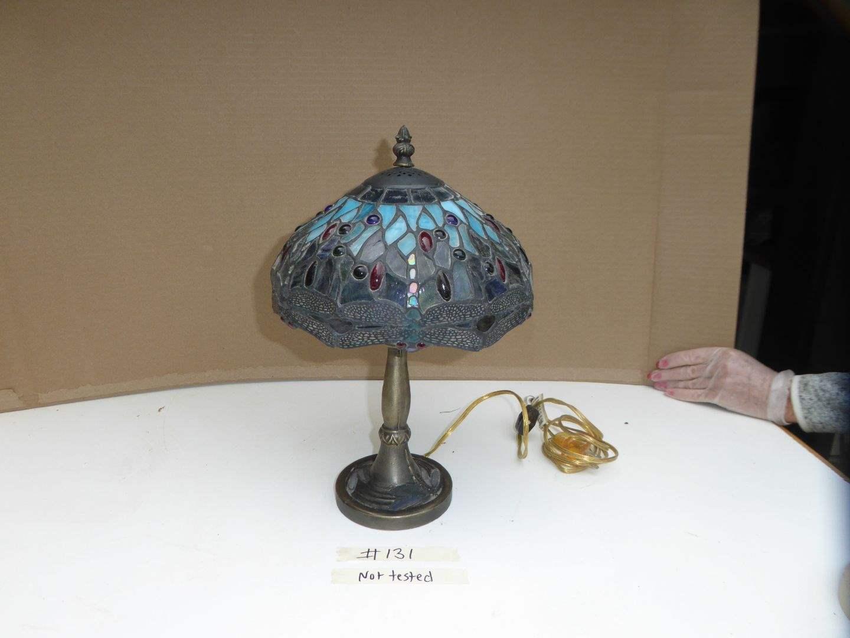 Lot # 131 - Beautiful Leaded Glass Lamp  (main image)