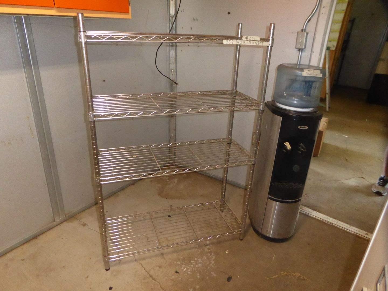 Lot # 201 - Metal Shelf & Addi Water Dispenser  (main image)