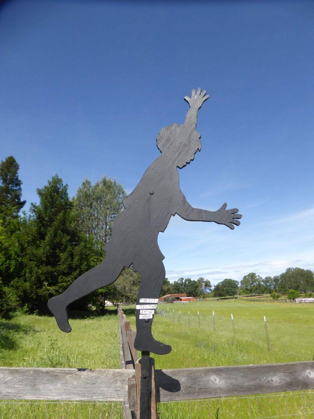 Lot # 207 - Wooden Boy Silhouette (main image)