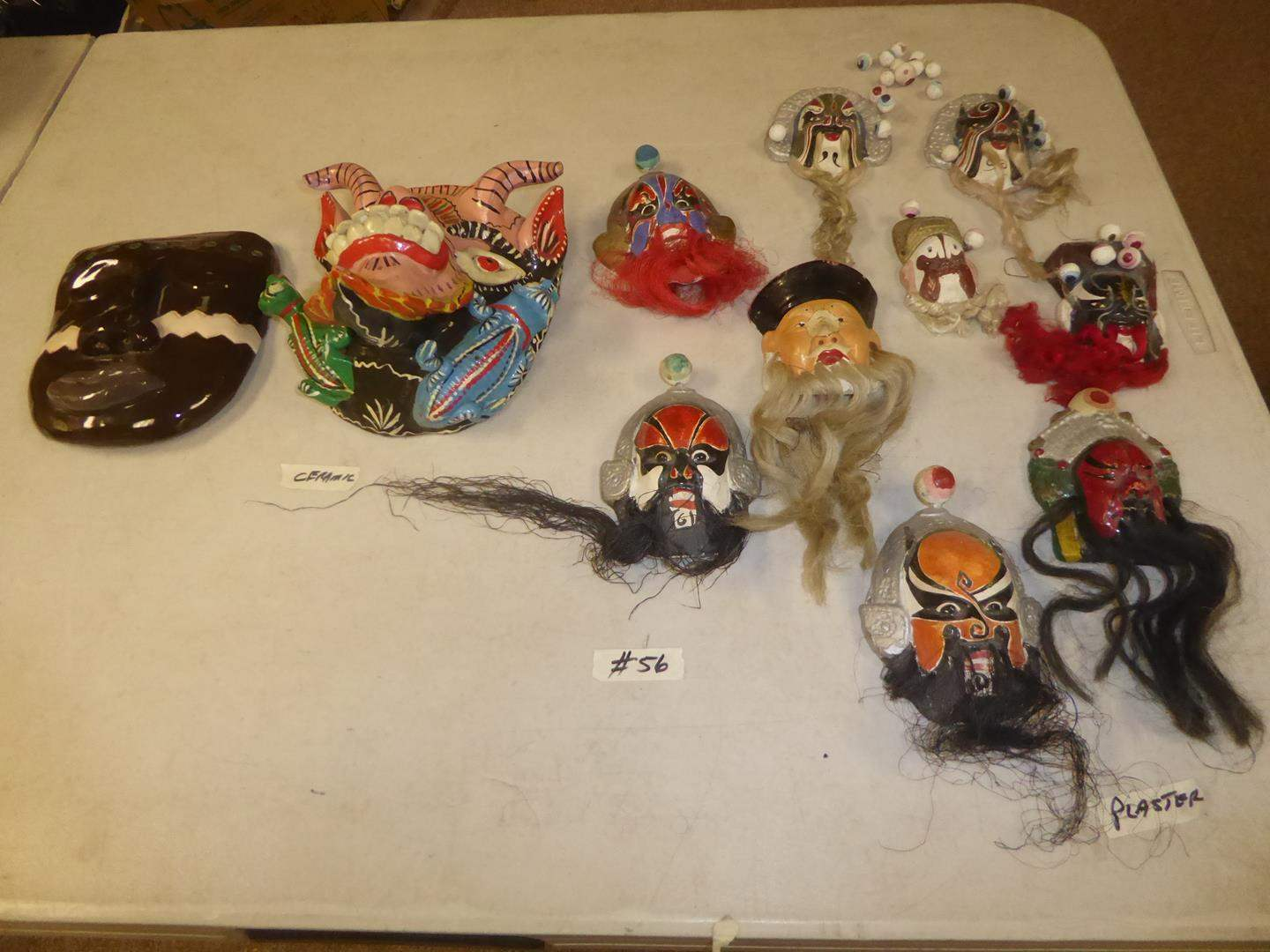 Lot # 56 - Decorative Mexican & Oriental Masks (main image)