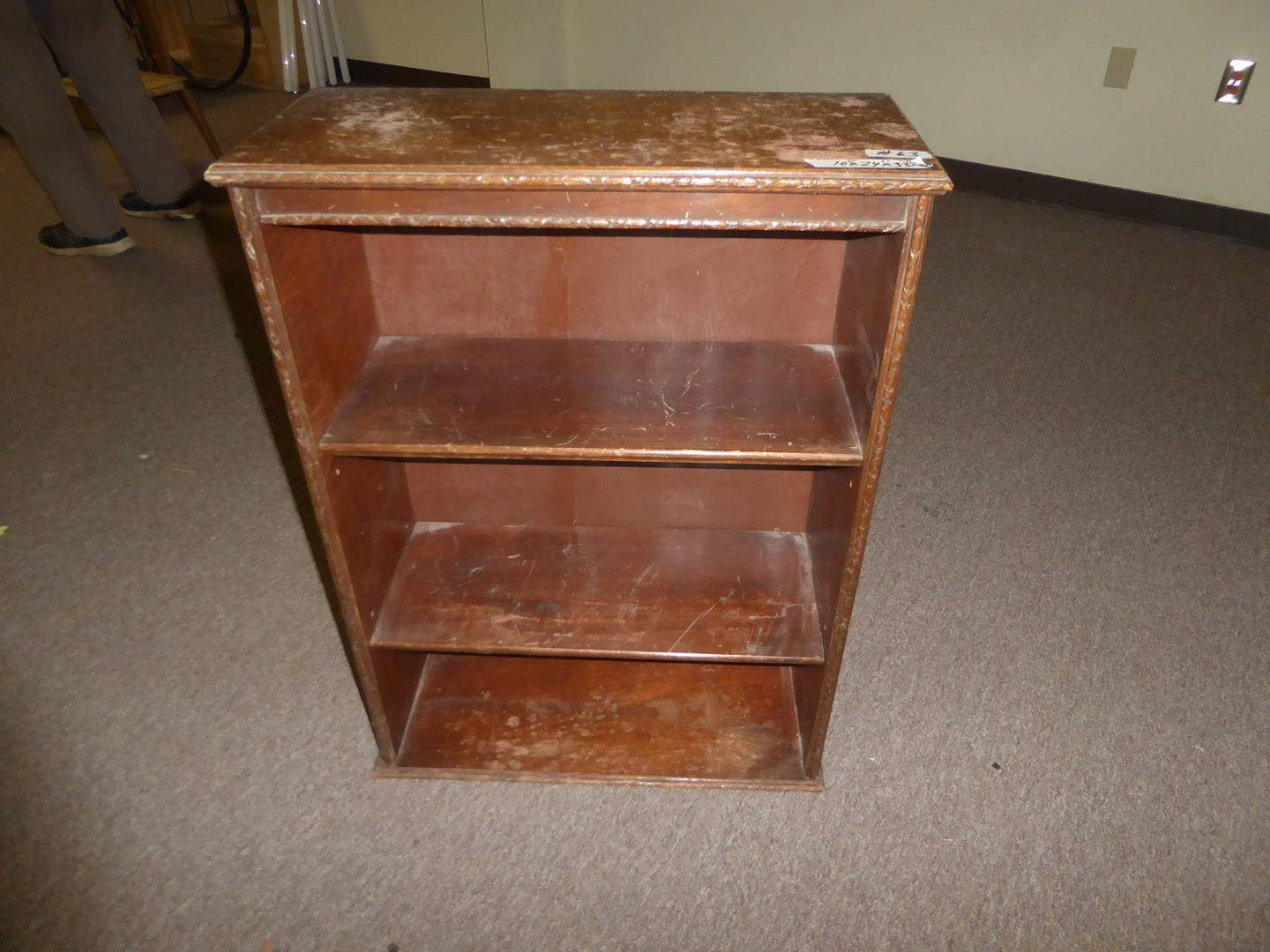 Lot # 63 - Small Vintage Wooden Bookshelf (main image)