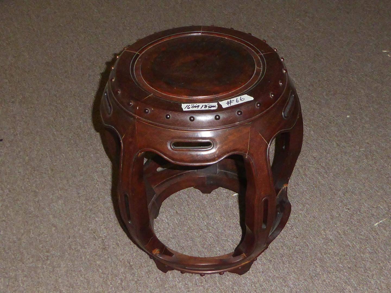 Lot # 66 - Nice Quality Small Rosewood Stool (main image)
