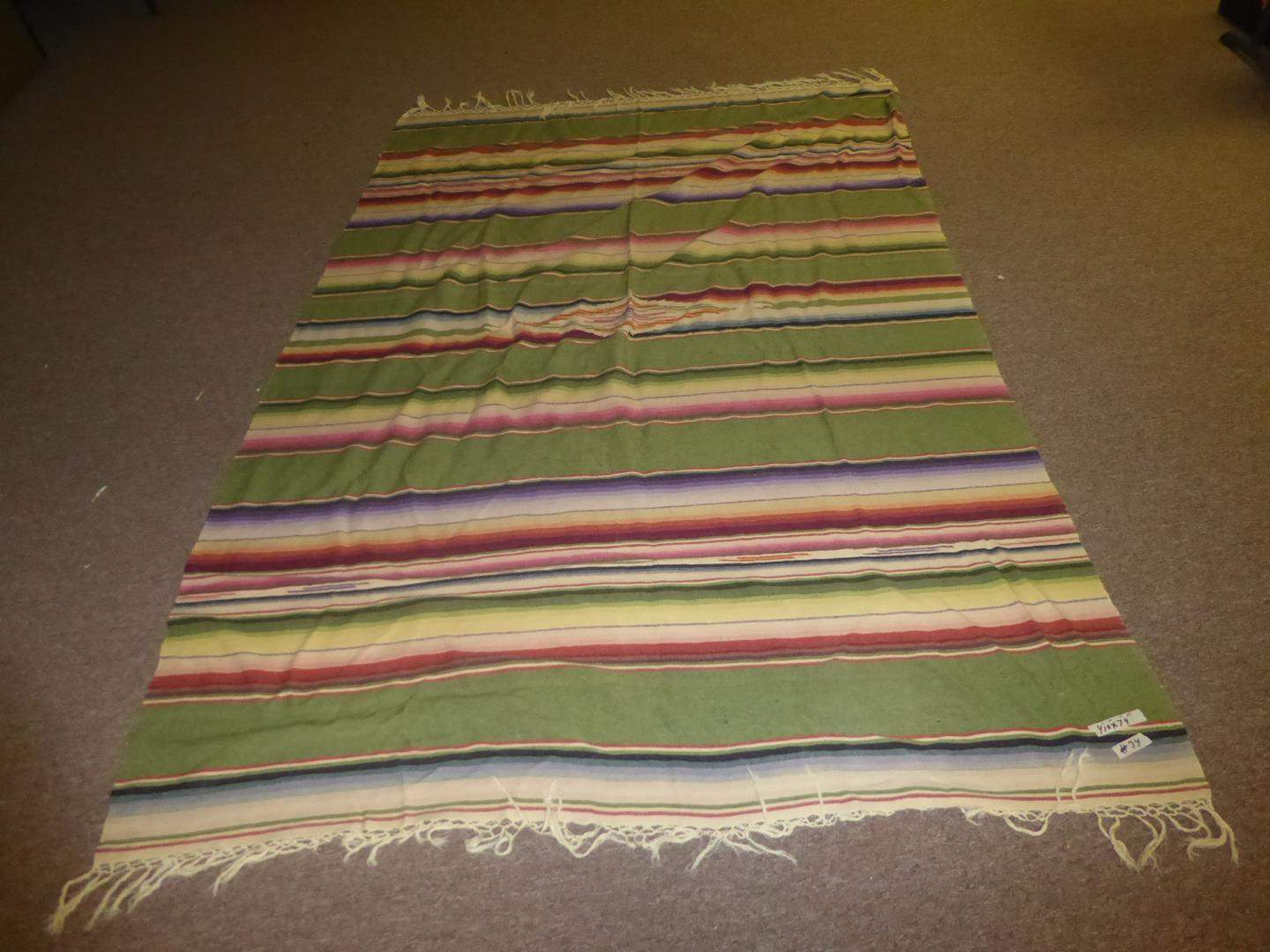 Lot # 74 - Colorful Vintage Mexican Rug (main image)