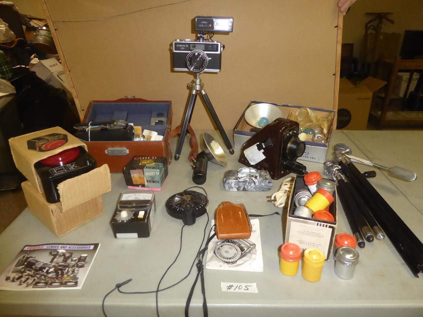 Lot # 105 - Vintage Camera & Accessories Collection (main image)