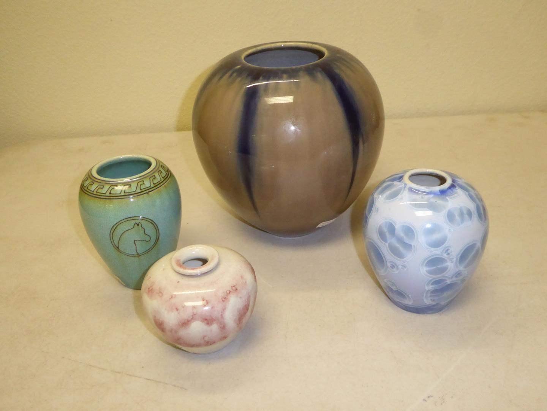 Lot # 111 - Manka Pottery Vases & Manka Crystaline Glaze Pottery Vase (main image)