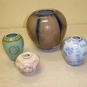Auction Thumbnail for: Lot # 111 - Manka Pottery Vases & Manka Crystaline Glaze Pottery Vase