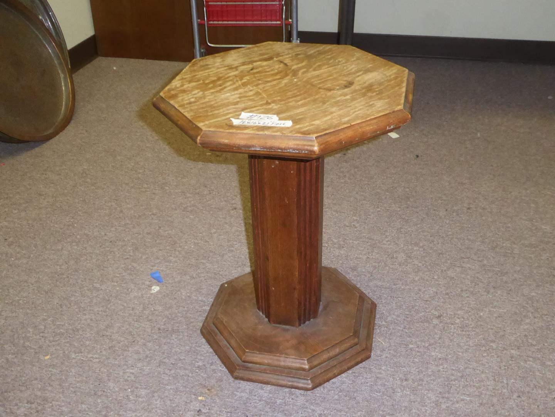 Lot # 126 - Vintage Tiger Oak Plant Stand (main image)