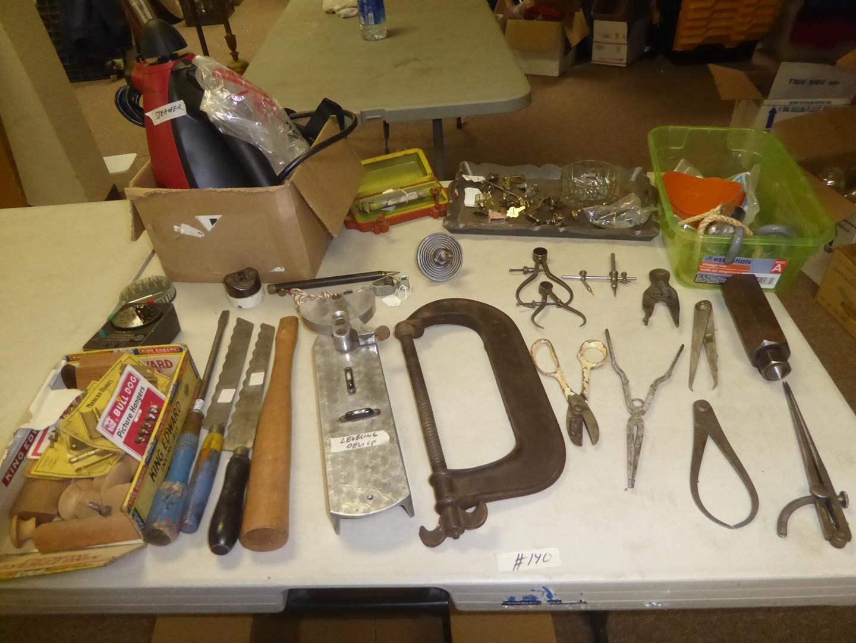 Lot # 140 - Hardware, Vintage Tools & Portable Steamer (main image)