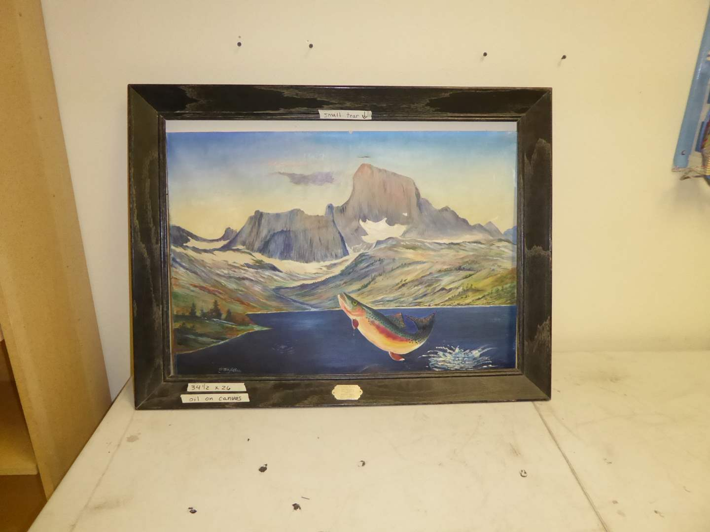 Lot # 2 - Oil On Canvas W/Frame  (main image)