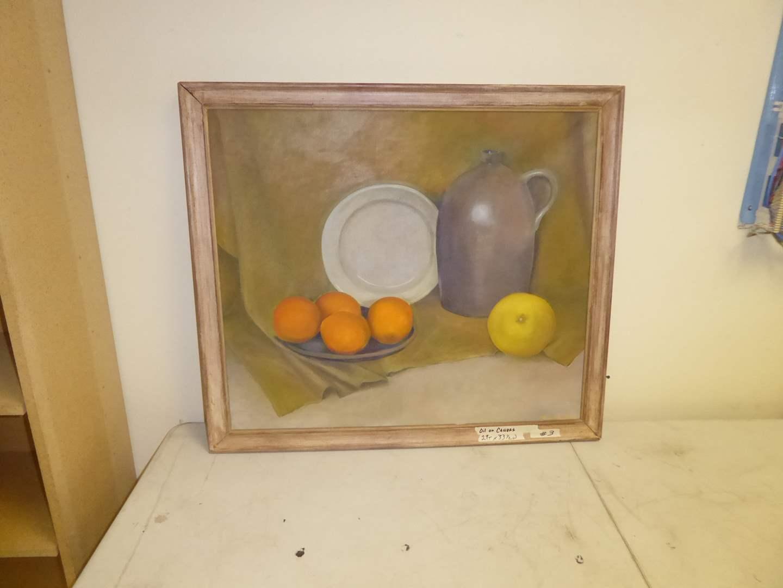 Lot # 3 - Framed Oil On Canvas  (main image)