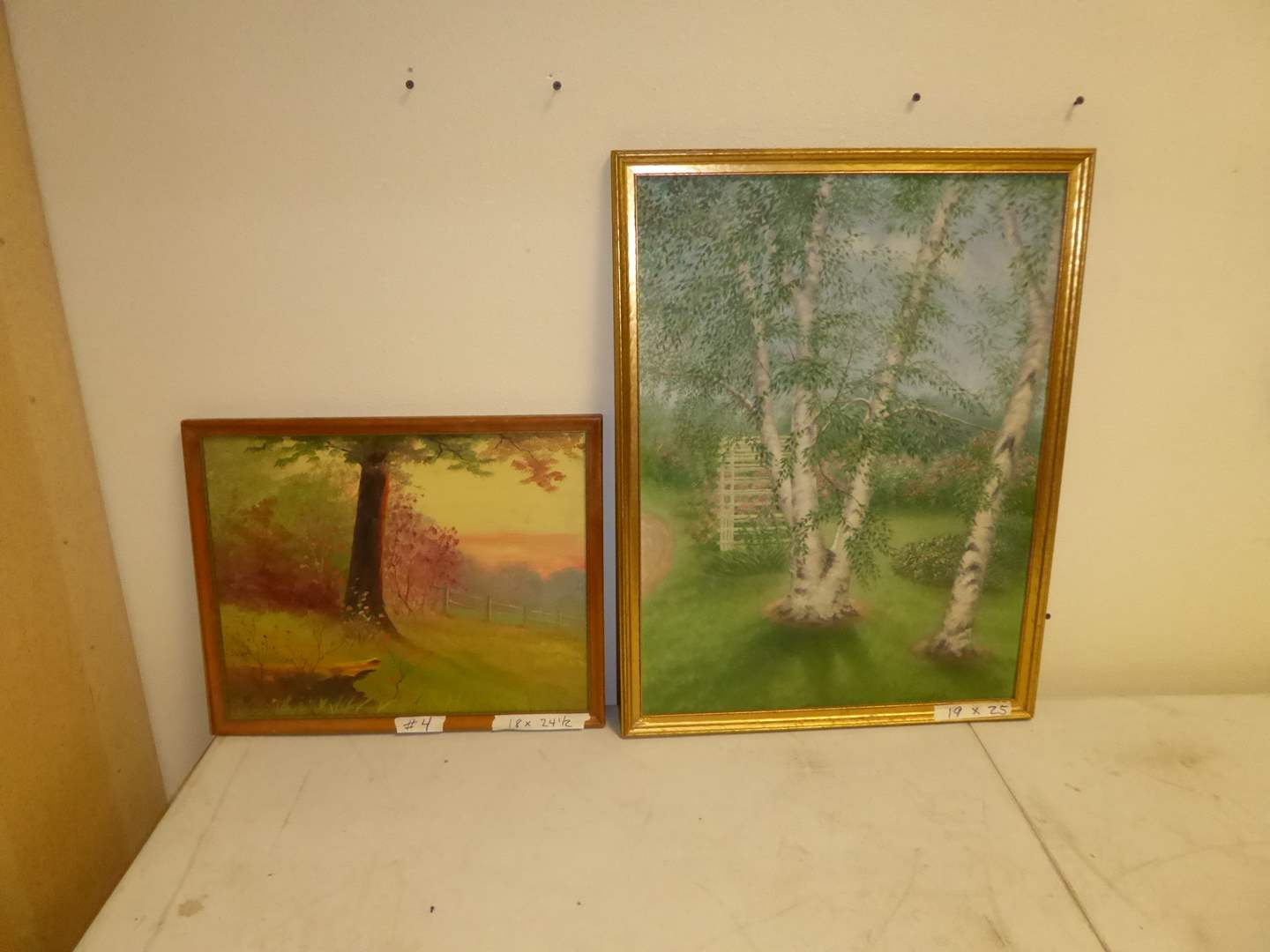 Lot # 4 - Two Framed Oil Paintings (On Board)   (main image)