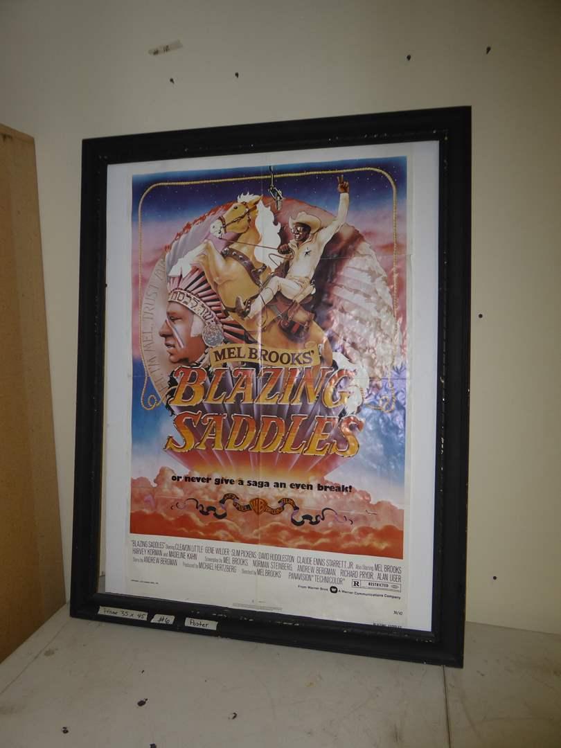 Lot # 6 - Blazing Saddles Poster  (main image)