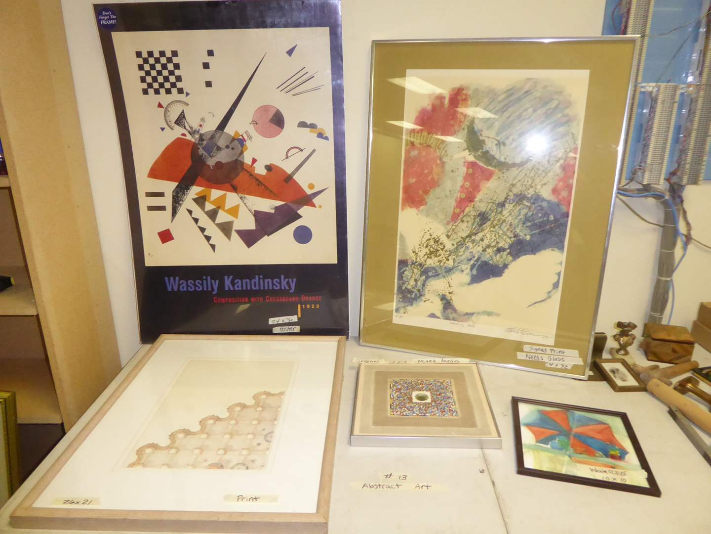 Lot # 13 - Original Mixed Media, Framed Watercolor, Prints & Poster  (main image)