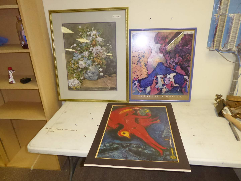Lot # 14 - Four Prints (Renoir, Chagall, Kandinsky & Okeefe) (main image)