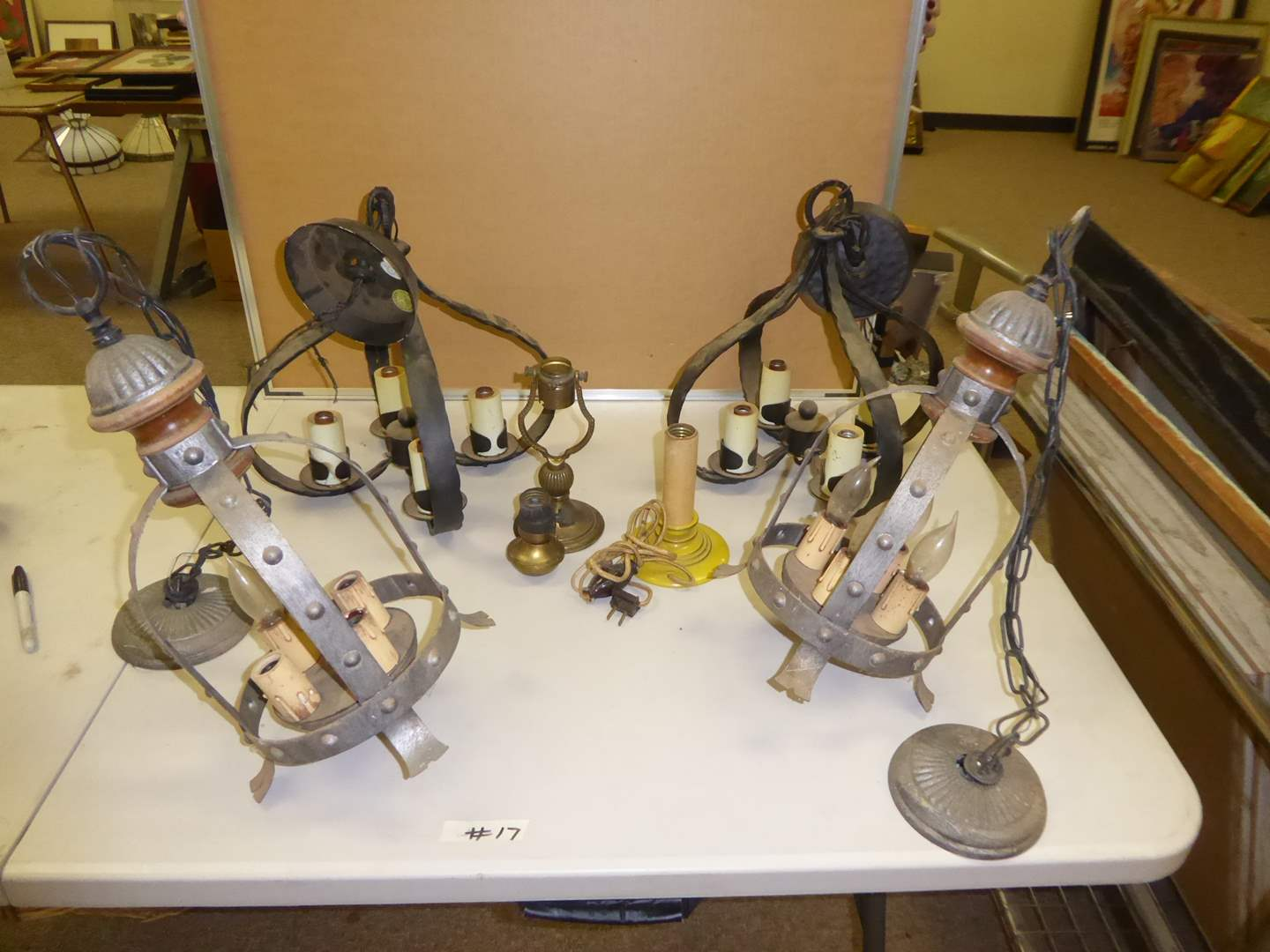 Lot # 17 - Vintage Chandelier Candle Style Lamps  (main image)