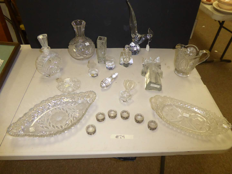 Lot # 24 - Vintage Crystal & Cut Glass  (main image)