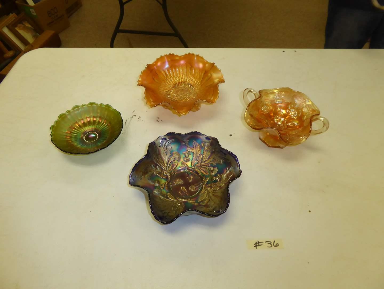 Lot # 36 - Vintage Carnival Glass  (main image)