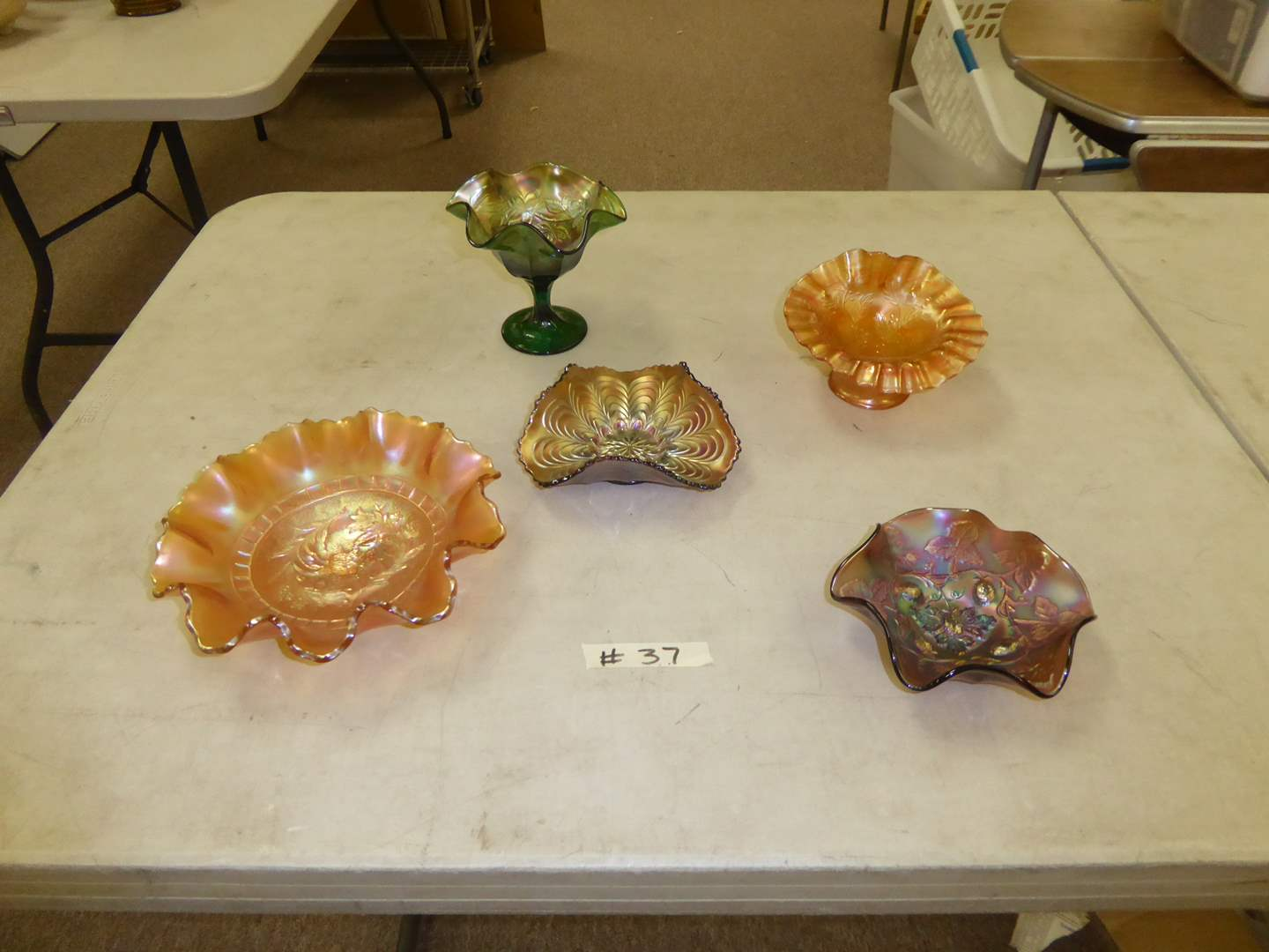 Lot # 37 - Vintage Carnival Glass Bowls  (main image)
