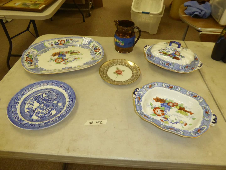 "Lot # 42 - ""Peel"" Soho Pottery, Antique Copper Lusterware Pitcher & More  (main image)"