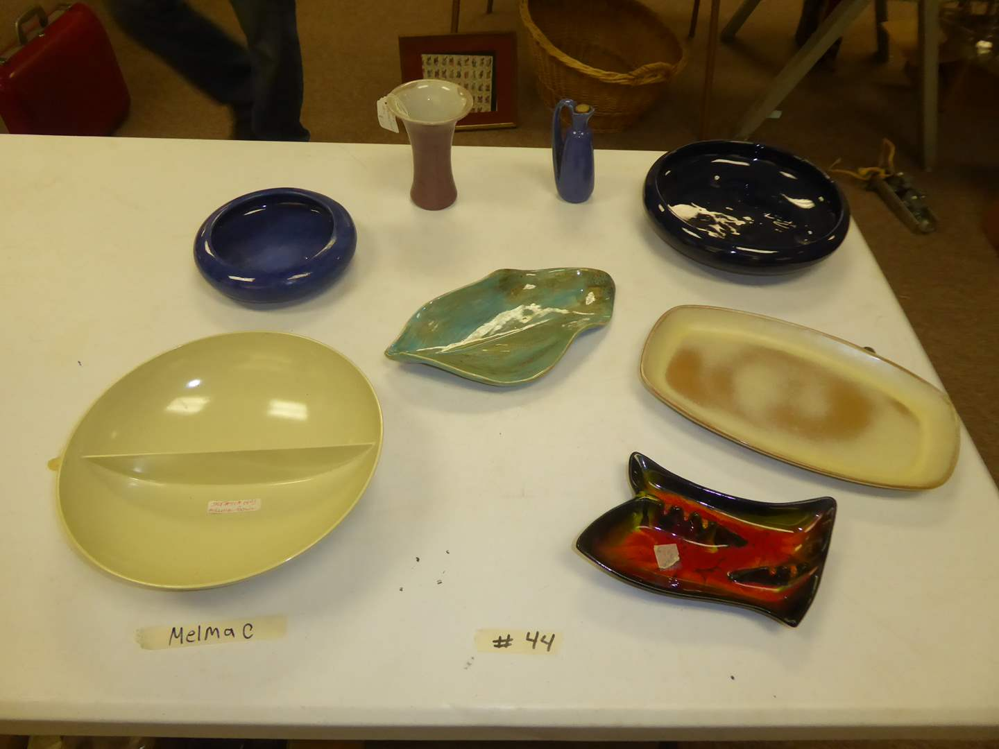 Lot # 44 - Melmac Bowl, Peters & Reed Pottery Vase & Other Pottery  (main image)