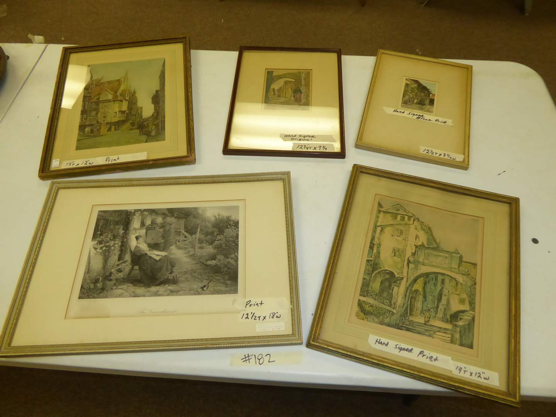 Lot # 182 - Framed Print, Hand Signed Original & Hand Signed Prints  (main image)