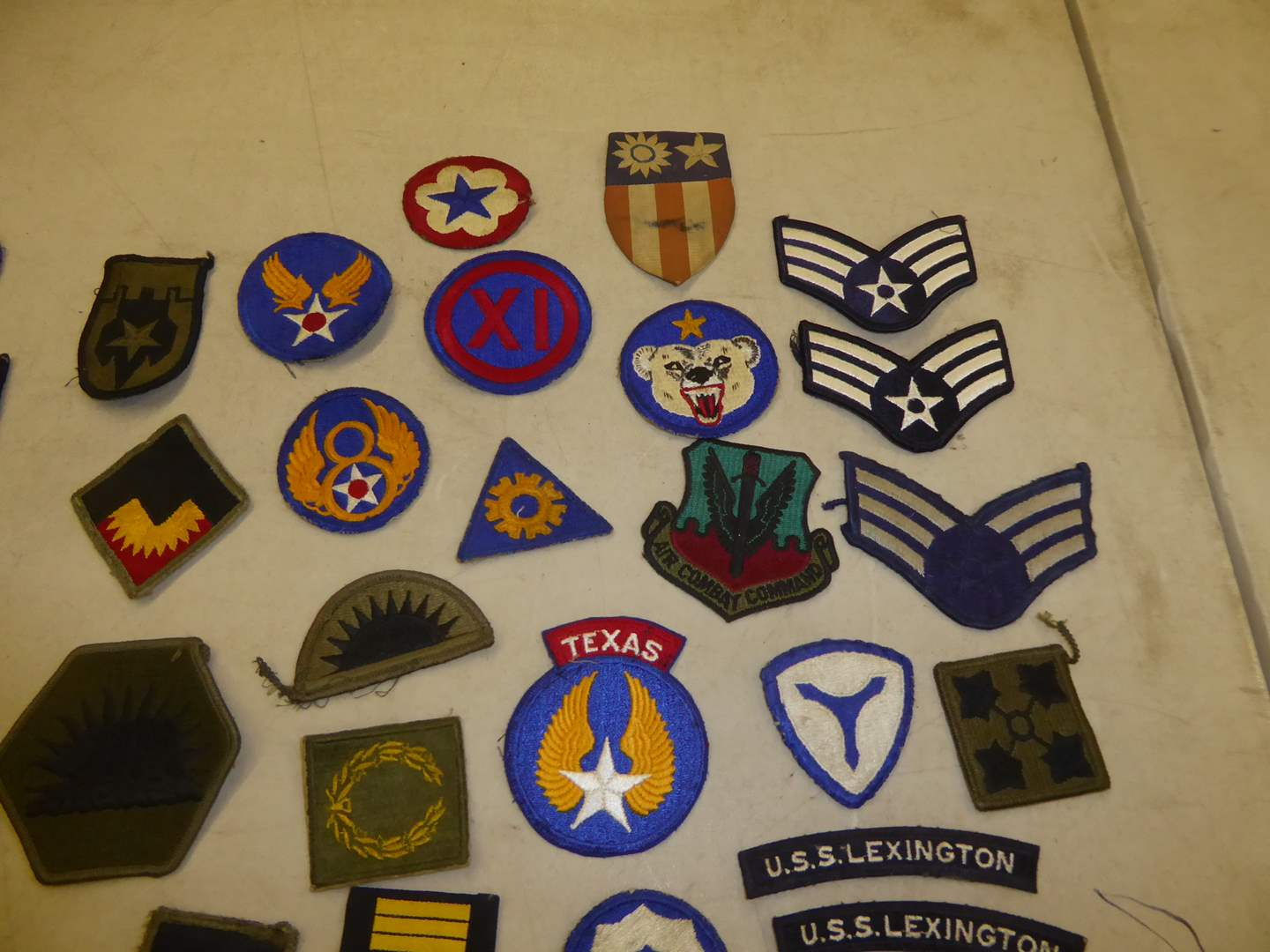 Lot # 190 - Military Patches & Paper Luggage Decals  (main image)